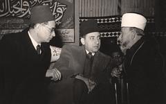 الحاج امين الحسيني و د.عبد الوهاب عزام مؤتمر العالم الاسلامي الثاني -  الباكستان - 1952