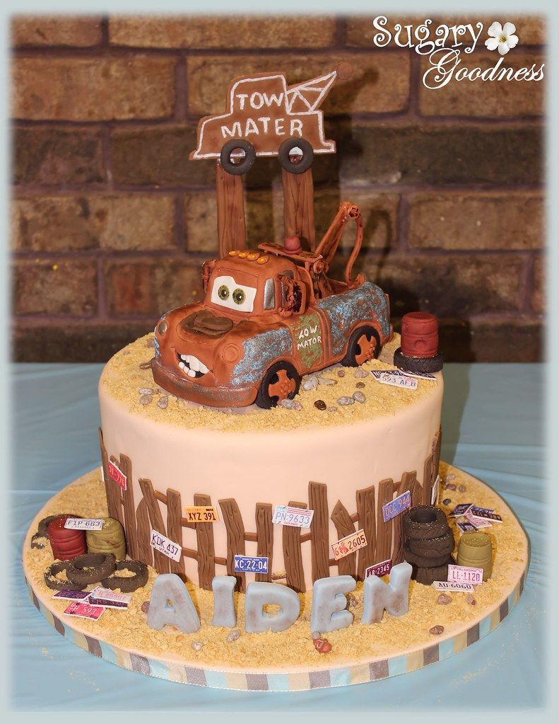 Incredible Aidens 3Rd Birthday Tow Mater This Was For My Grandson Flickr Funny Birthday Cards Online Kookostrdamsfinfo