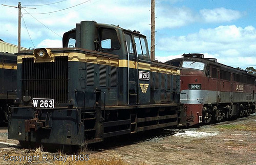 W-263 & A.N.R. 942 at Ararat Loco Depot. | by Photos by L-1172