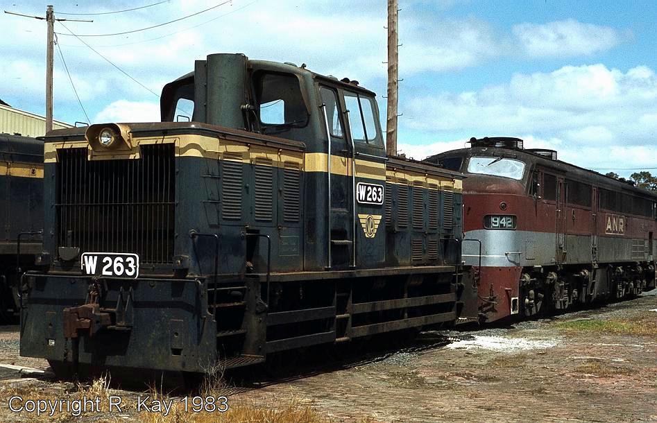 W-263 & A.N.R. 942 at Ararat Loco Depot by Robert Kay