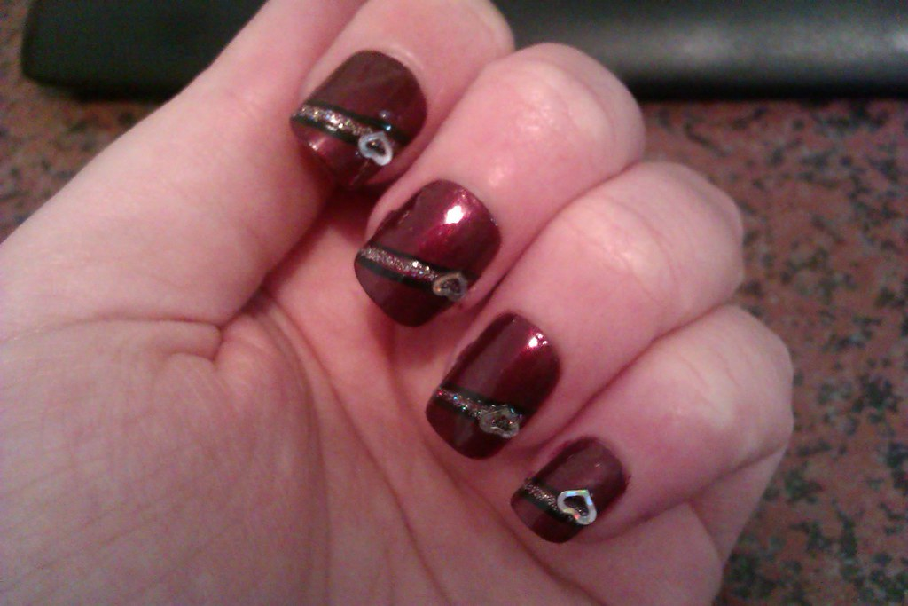 Red Nail Art Designs Simple