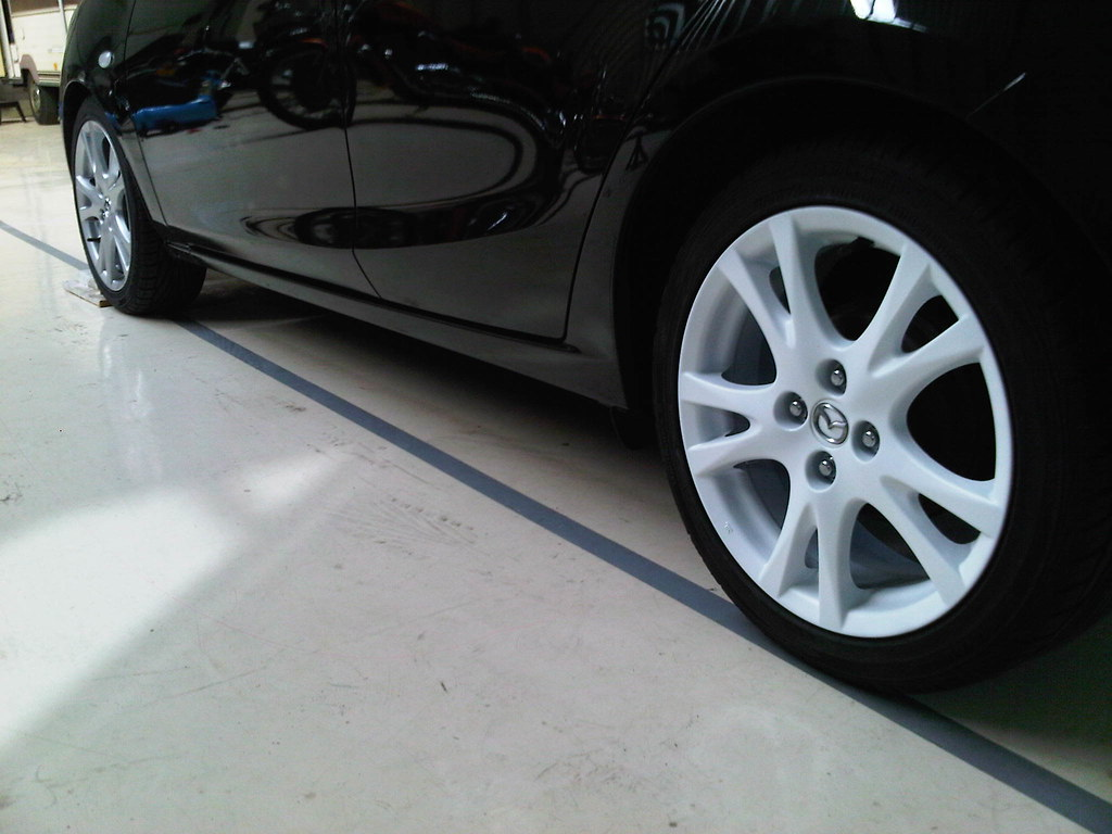 Mazda 2 Plasti-Dip Rims - First wheel back on the car   Flickr