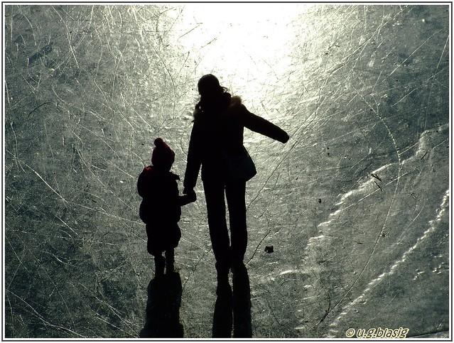 der aasee in münster im winter