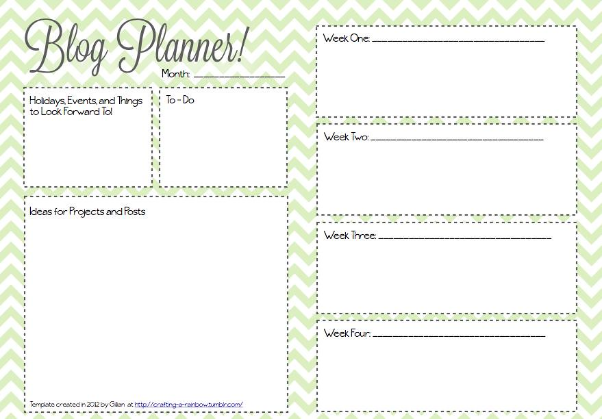 photo relating to Blog Planner Template named Month-to-month Blog site Planner Template Produced by means of Gillian at crafti