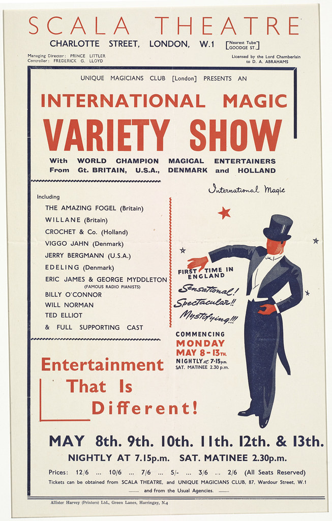 International magic variety show : Entertainment that is different!