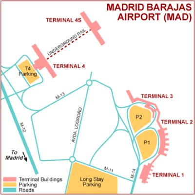 Madrid Airport Map Madrid Barajas Airport Map Terminals 1 2 3 4 | This map show… | Flickr
