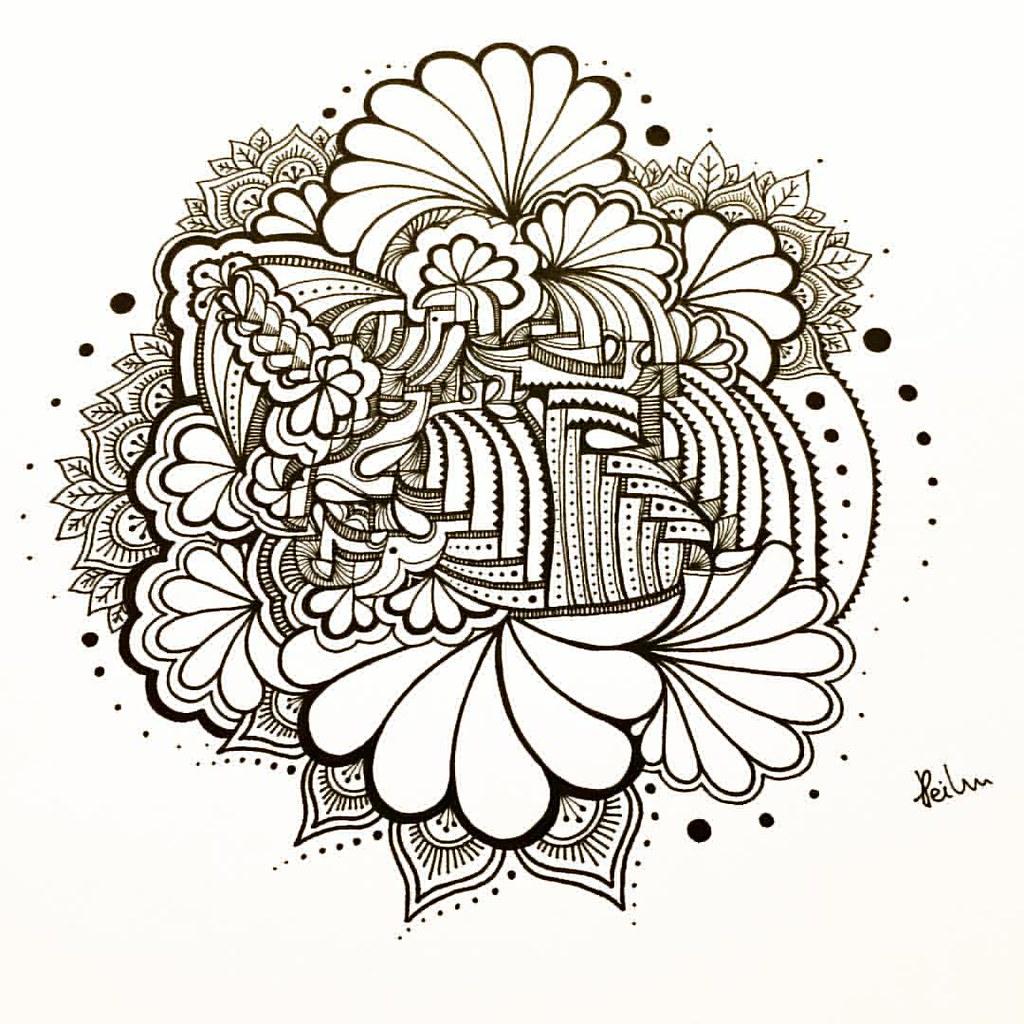 blackpen #zenart #zentangle #doodleart #doodle #pattern #…   Flickr