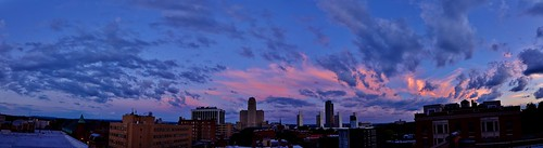 plaza city roof sunset sky panorama usa ny newyork color tower rooftop clouds buildings nikon downtown view state dusk ryan pano upstate panoramic capitol empire albany 5100 corning grennan d5100 rwgrennan rgrennan