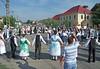 Tanzeinlage in der Dorfmitte