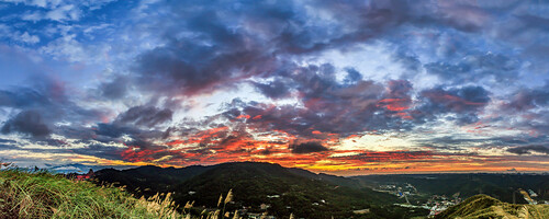 sunset panorama widescreen taiwan sunsets taipei 新莊 樹林 芒草 大同山 寬景 迴龍 三角埔頂山 三角埔頂後山