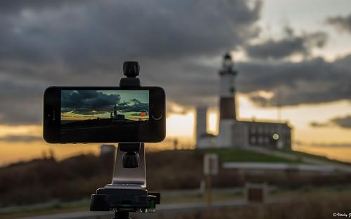 morning lighthouse clouds sunrise longisland montauk iphone