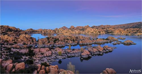 adelheidsphotography adelheidsmitt adelheidspictures america water watsonlake landscape lake bluehour blue granitedells prescott arizona southwest usa unitedstates