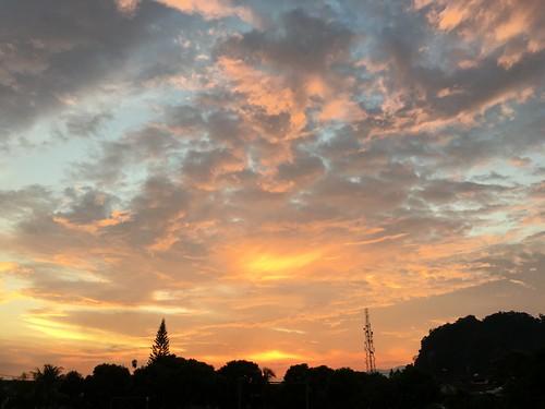 sunset sky skyline ipoh