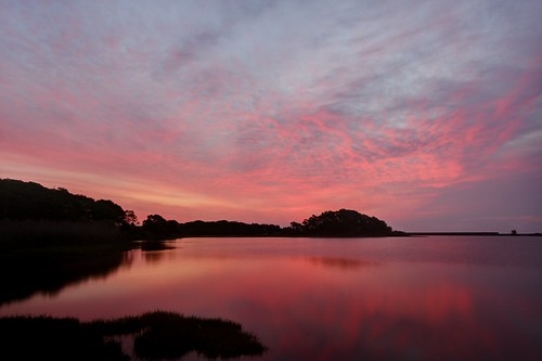 red sunrise cloudy marthasvineyard