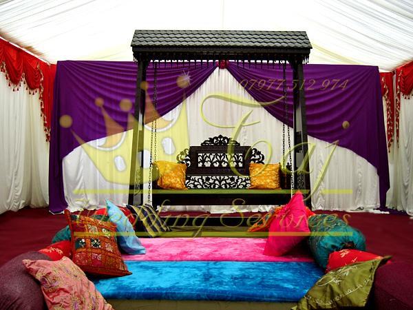 Mehndi Stage Jhoola Purple Wales 1