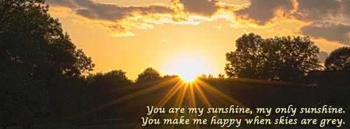 sunset sunshine clouds photo pond cover sunburst facebook