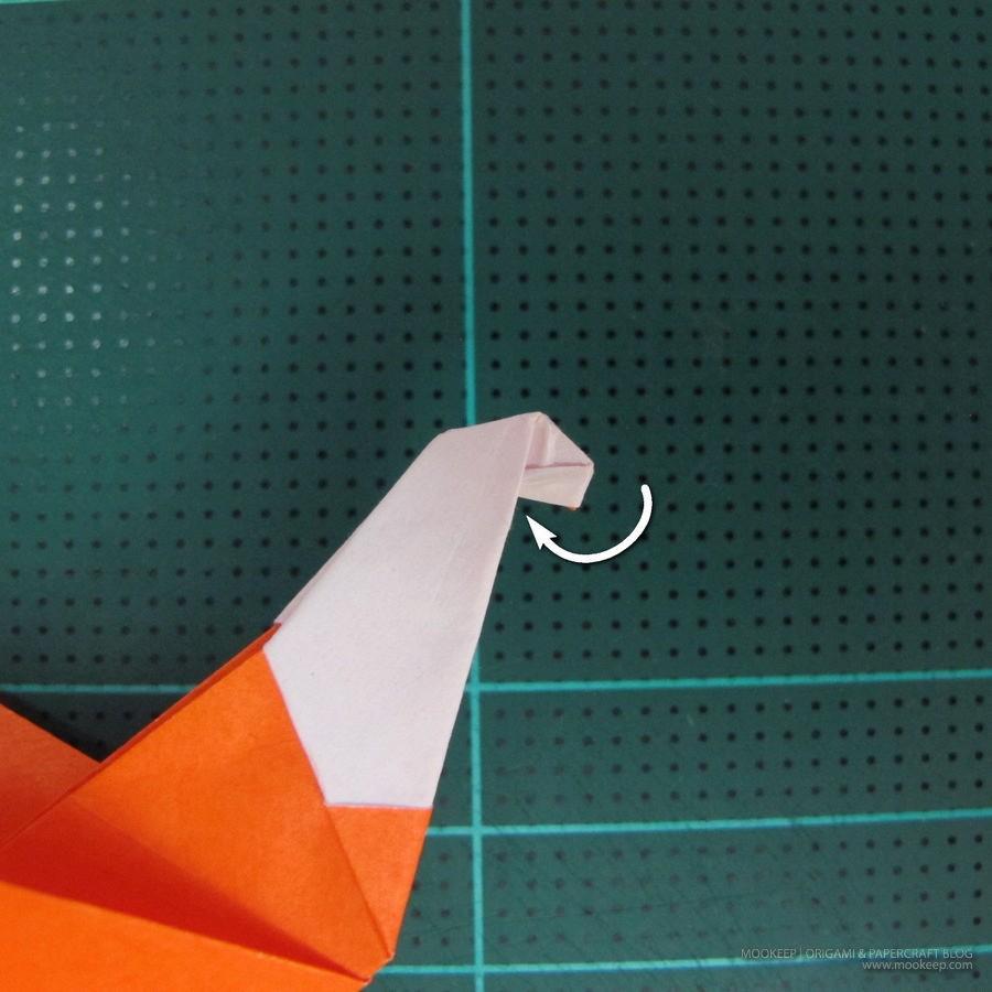 วิธีการพับกระดาษเป็นรูปไดโนเสาร์ (Origami Dinosaur) 023