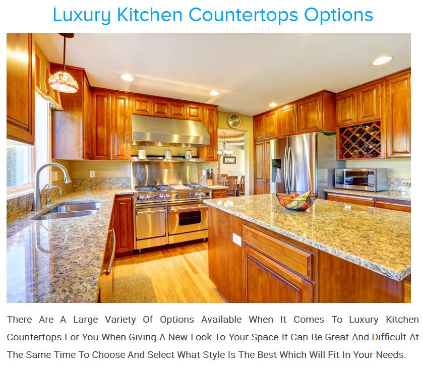 ... Luxury Kitchen Countertops Options | By Flawles Scrafts