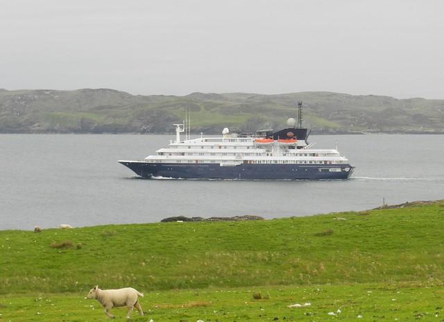 Corinthian Cruise Ship leaving Stornoway, Isle of Lewis, June 2016