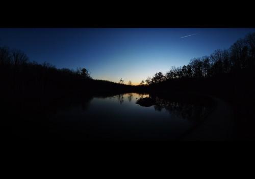 sunset panorama copyright nature dark evening virginia allrightsreserved beaverlodge pandapaspond panoramicstitch mzuiko918mm ©daveelmore