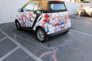 Smart Car with chalk drawings - SMUM - March 2012 | by John Plocher and Katy Dickinson