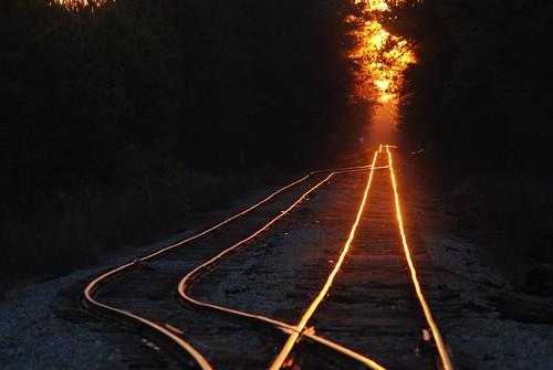 sunset ga reflections georgia switch track side griffin railroadtracks spaldingcounty