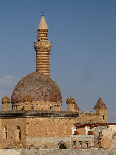 Minaret at Ishak Pasha Palace   by retrotraveller