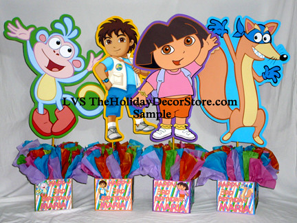 Dora The Explorer Birthday Centerpiece Decorations Handmad