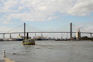 Talmadge Memorial Bridge Savannah   by Mr.TinDC