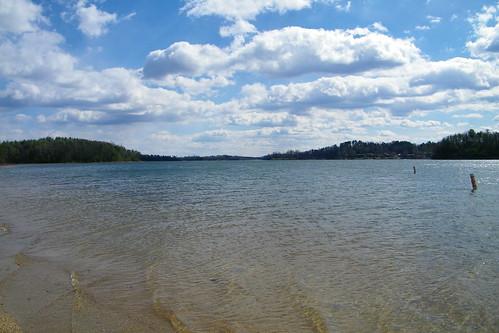 park lake beach swimming james state north carolina buoys paddys