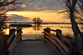 Sundown At Merced Wildlife Refuge | by goingslo