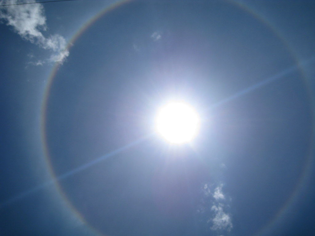 Halo Solar Desafortunadamente Era Muy Amplio Y No Pude Tom Flickr