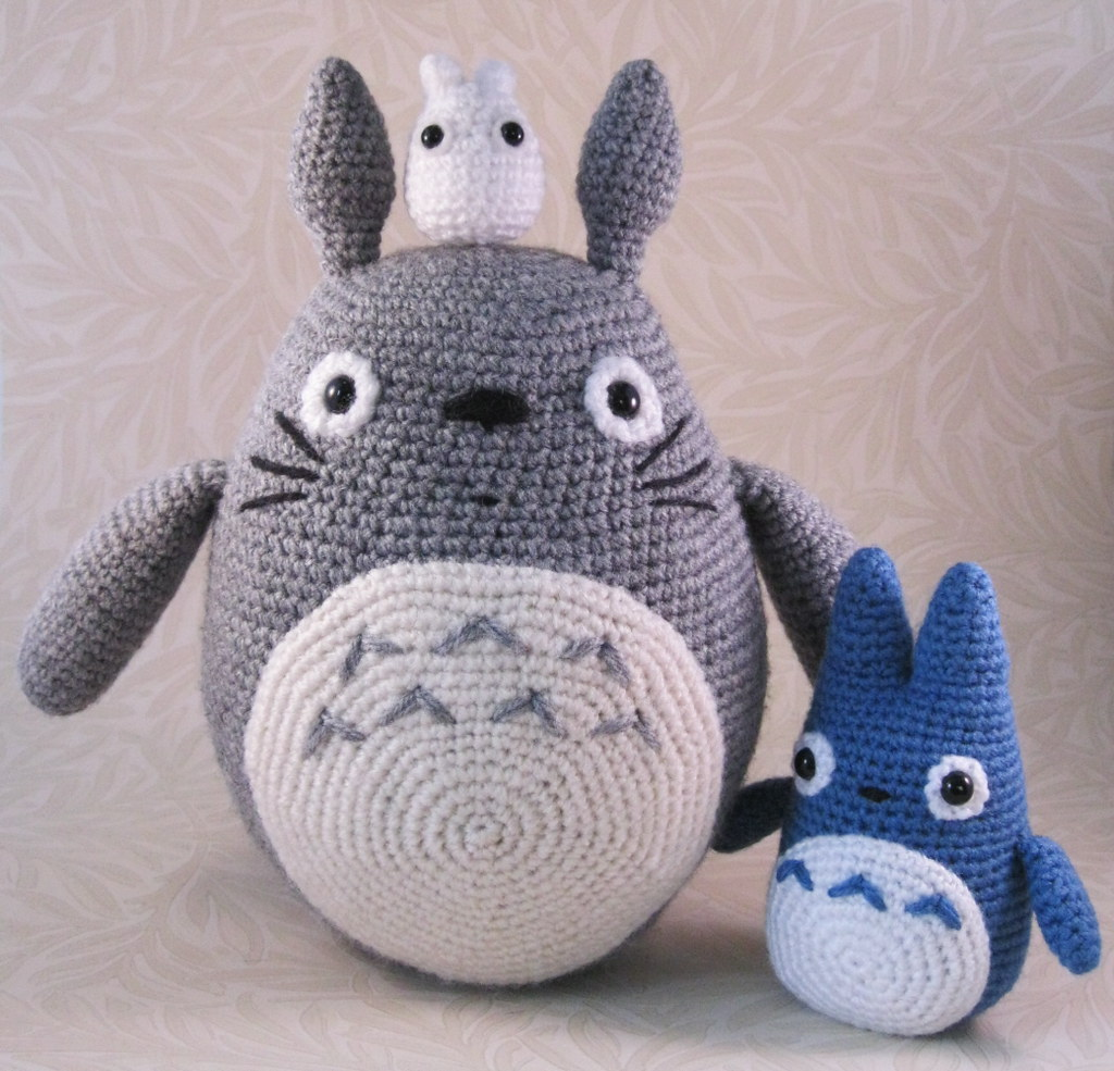 Totoro Amigurumi Patterns and Stop Animation | 985x1024