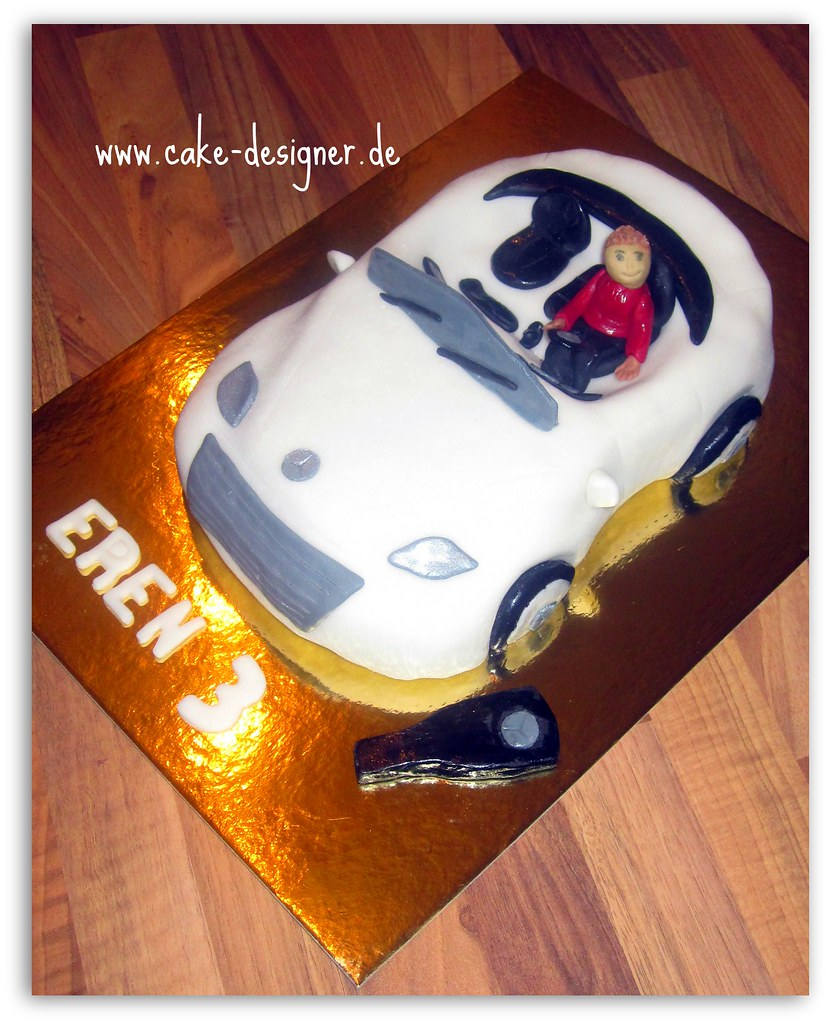Outstanding 31 Fondant Torte Mercedes Benz Weiss Sengul Akbas Flickr Personalised Birthday Cards Veneteletsinfo
