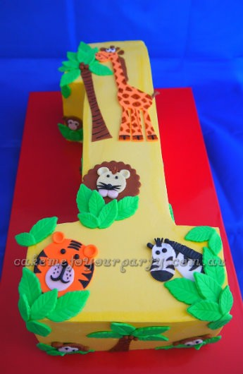By CakeMeToYourParty Jungle Animal Cake 1st Birthday Ideas For Boys