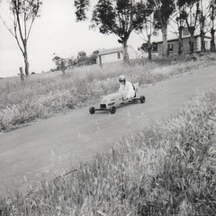 Soapbox Derby practising down East Tce 1954