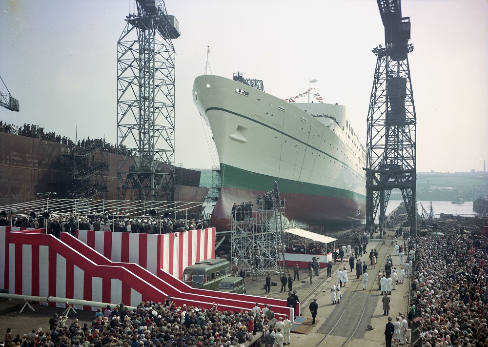 Launch of the passenger liner 'Empress of Canada'