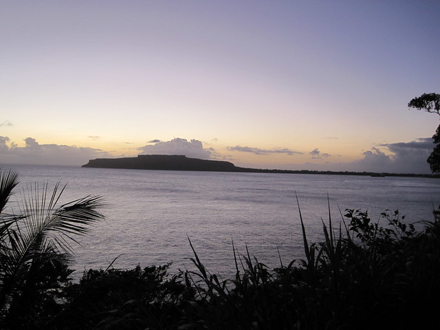 View of Wedding Cake Mountain from the Japanese Canon