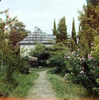 Prokudin-Gorskii Trichrome Composite Cottage Path