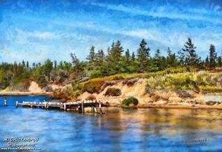 Singing Sands, Basin Head PEI, a digital painting | by PhotosToArtByMike