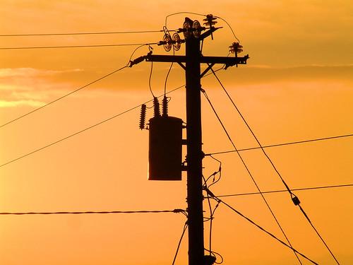 sunset galway pylon electricity carraroe