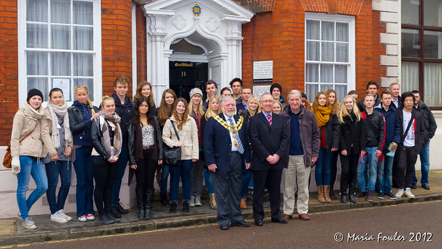 Blackebergs Gymnasium students visit to the Guildhall, Harwich.