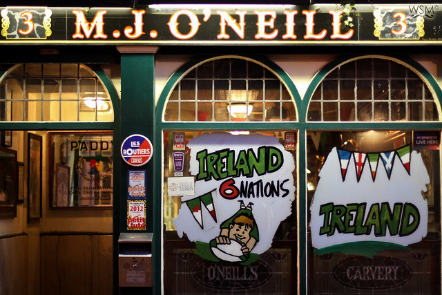 6 Nations window at the O'Neill - Dublin, IE