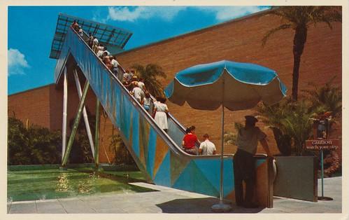gardens vintage tampa stars florida postcard stairway busch