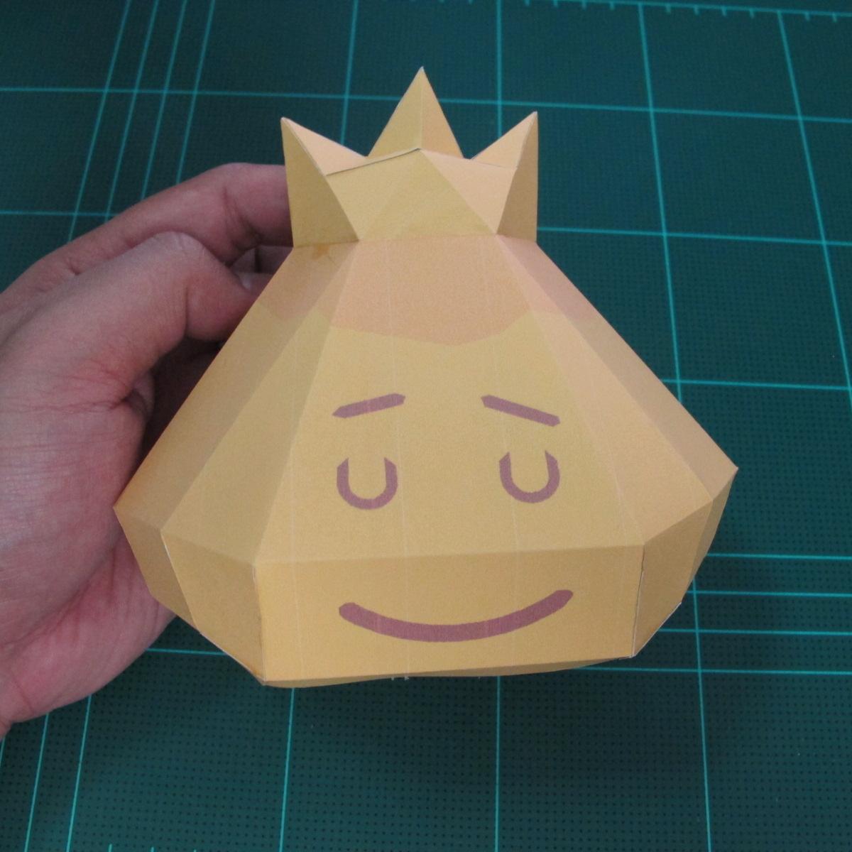 วิธีทำโมเดลกระดาษตุ้กตาสัตว์เลี้ยง หยดทองจากเกมส์ คุกกี้รัน (LINE Cookie Run Gold Drop Papercraft Model - クッキーラン  「黄金ドロップ」 ペーパークラフト) 015