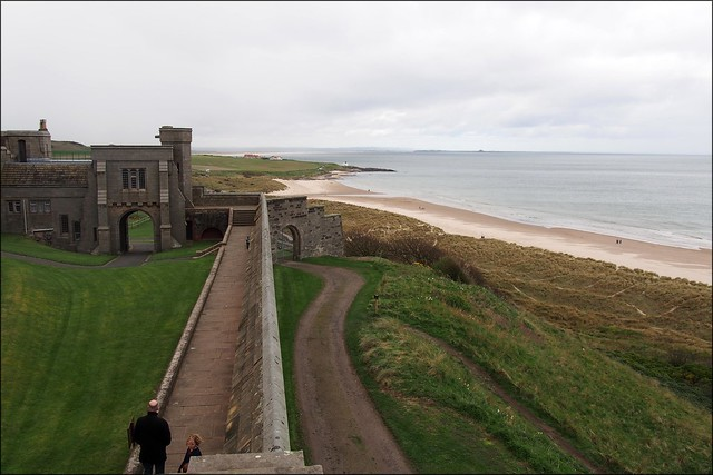 The coast from Bamburgh Castle