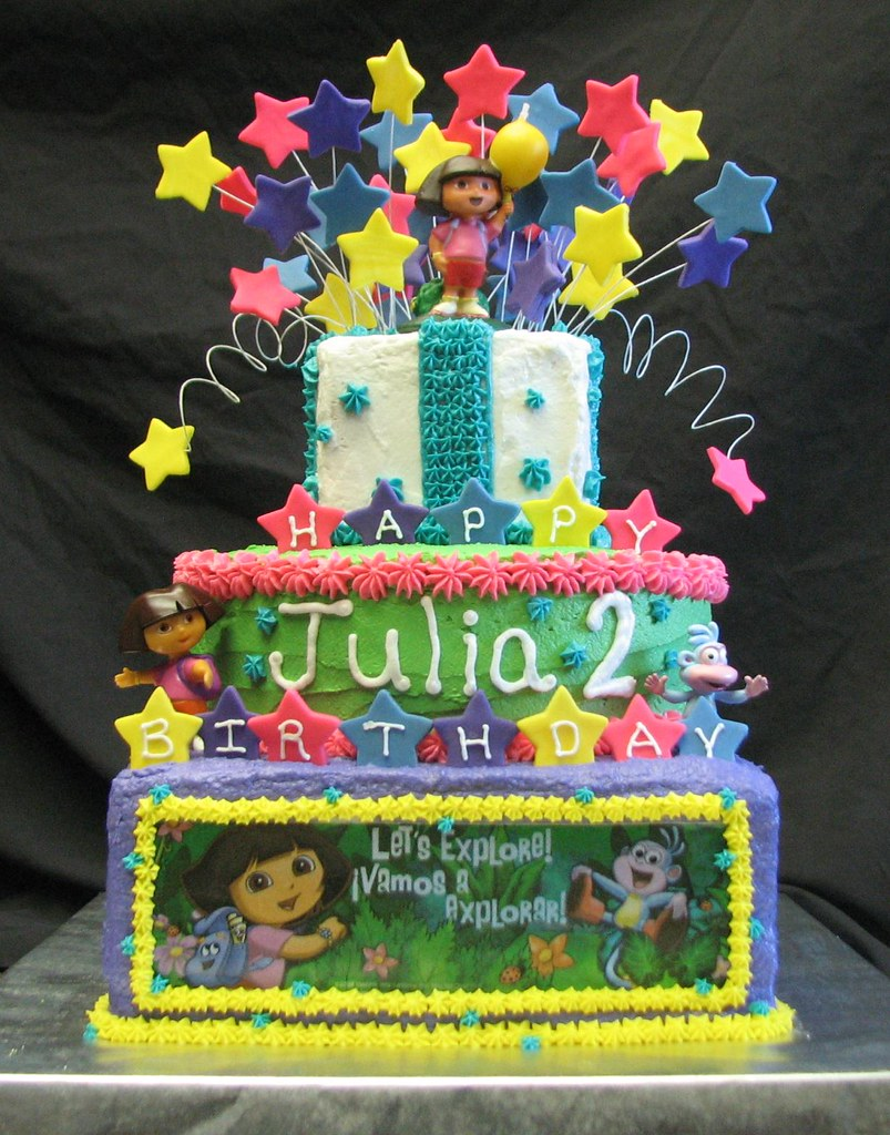 Cool Dora The Explorer Birthday Cake Exclusive Cakes By Tessa Flickr Funny Birthday Cards Online Alyptdamsfinfo