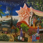 Conch House Painting by Abigail White, Key West