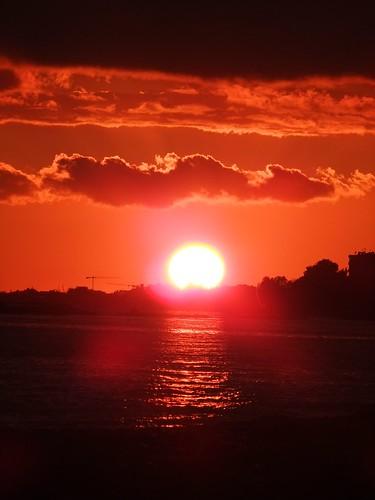 pink sunset red orange yellow sunrise january cyprus 2012 limassol