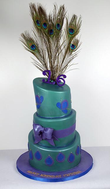 BC4024 - peacock birthday cake toronto